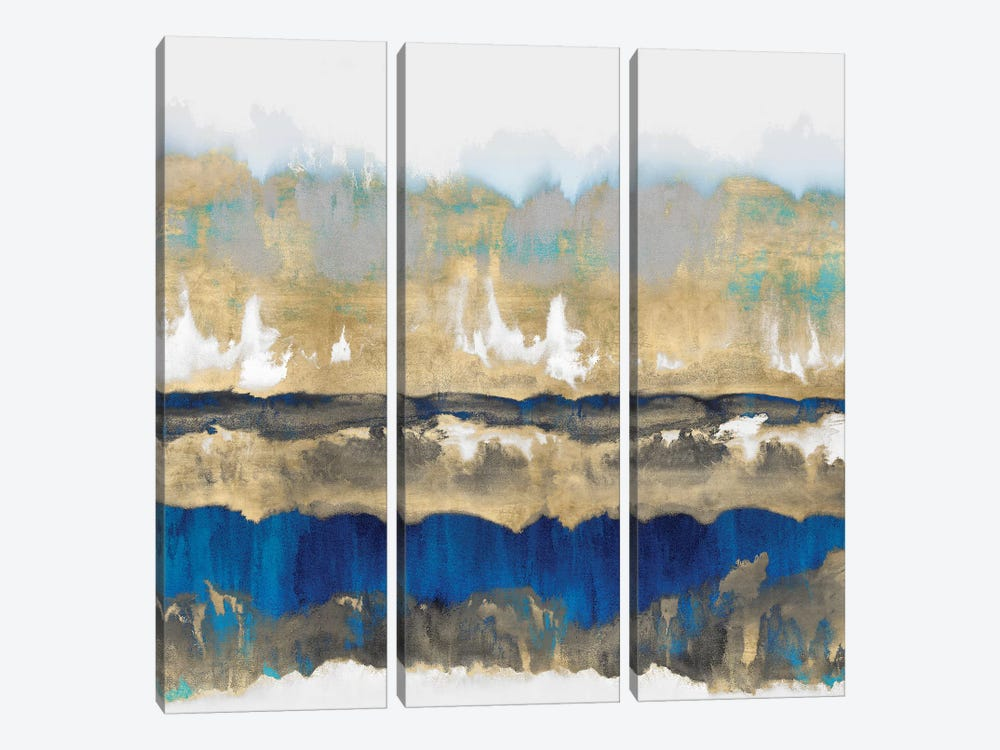 Gradations In Blue & Gold by Rachel Springer 3-piece Art Print