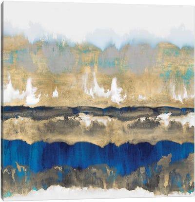 Gradations In Blue & Gold Canvas Art Print
