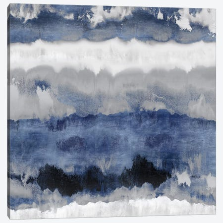 Indigo Gradations Canvas Print #SPR15} by Rachel Springer Canvas Art