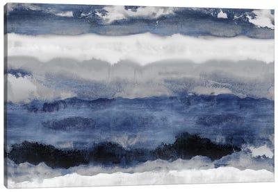 Indigo Strata Canvas Art Print