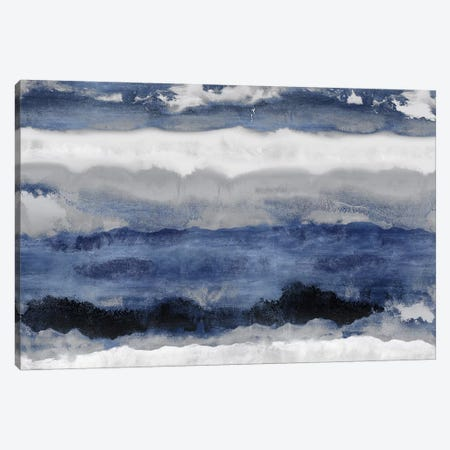 Indigo Strata Canvas Print #SPR16} by Rachel Springer Canvas Artwork