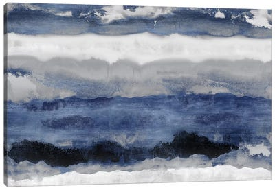 Indigo Strata Canvas Art Print