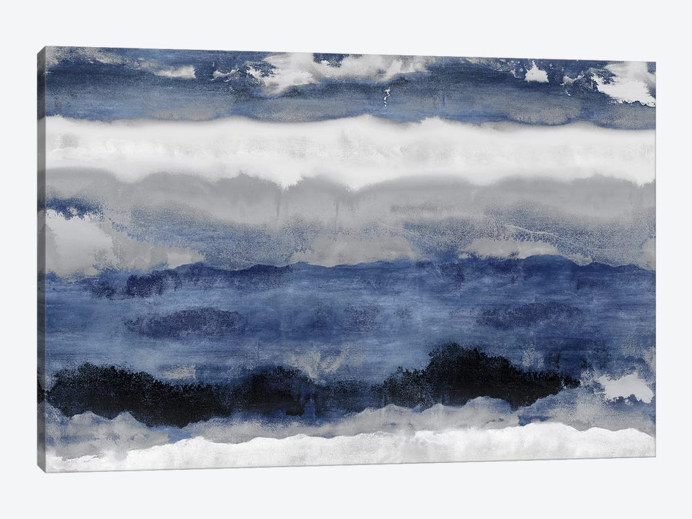 Indigo Strata by Rachel Springer 1-piece Canvas Print