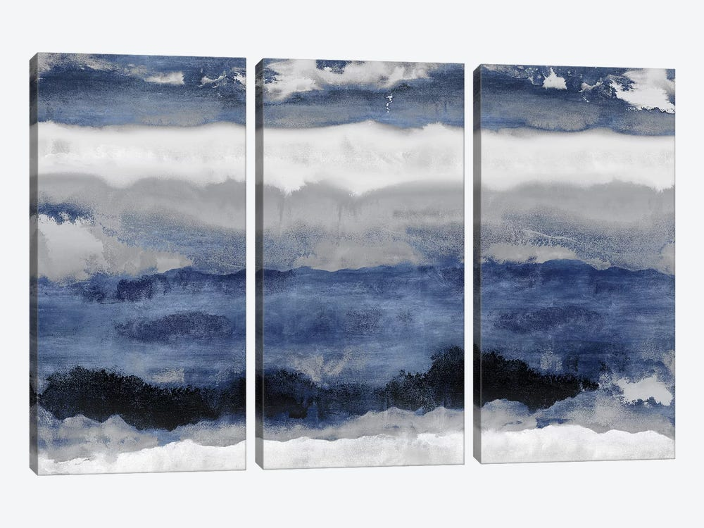 Indigo Strata by Rachel Springer 3-piece Canvas Print