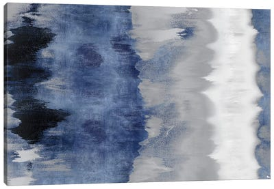 Resonate - Indigo Canvas Art Print