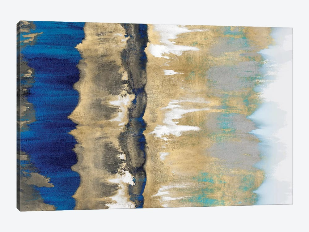 Resonate In Gold & Blue by Rachel Springer 1-piece Art Print