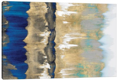 Resonate In Gold & Blue Canvas Art Print