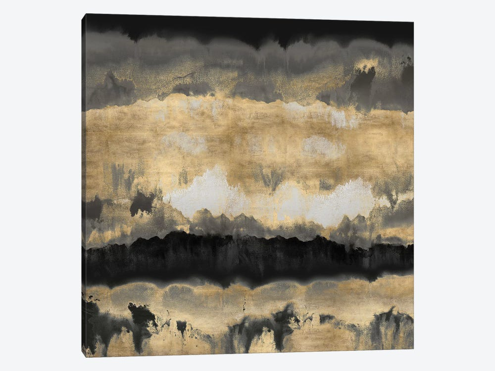Spectrum In Gold & Black by Rachel Springer 1-piece Canvas Art
