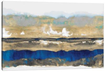 Strata In Blue & Gold Canvas Art Print