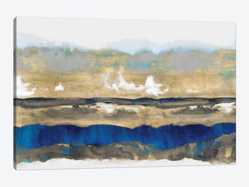 Strata In Blue & Gold by Rachel Springer 1-piece Art Print