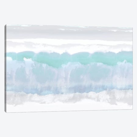 Aqua Undertones Canvas Print #SPR3} by Rachel Springer Canvas Art Print
