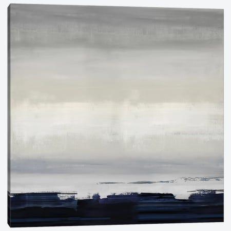 Blue Strokes Canvas Print #SPR46} by Rachel Springer Canvas Art Print