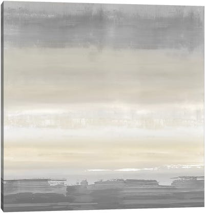 Cream Horizon Canvas Art Print