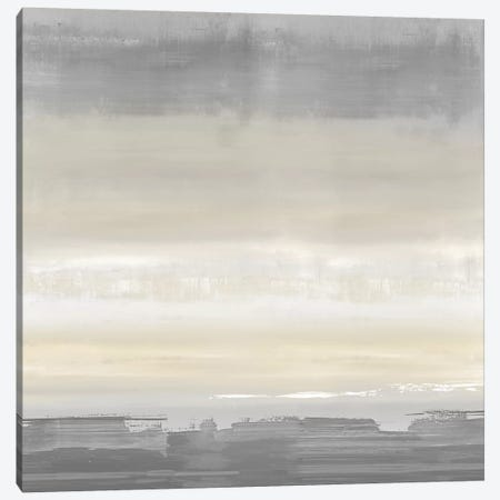 Cream Horizon Canvas Print #SPR50} by Rachel Springer Art Print