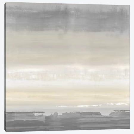 Cream Horizon Canvas Print #SPR50} by Rachel Springer Art Print