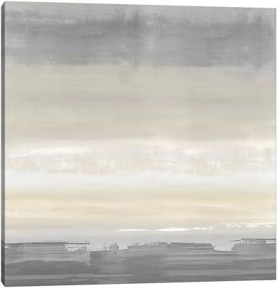 Cream Horizon Canvas Art Print