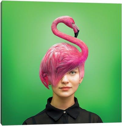 Hairstyle: Flamingo Canvas Art Print