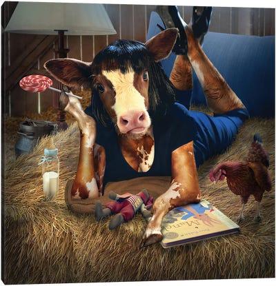 Calf Fiction Canvas Art Print