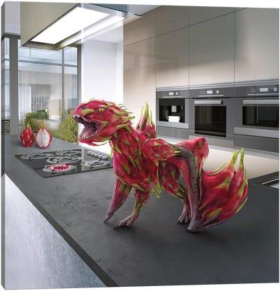 Tiny Kitchen Monster: Dragon Fruit Canvas Art Print
