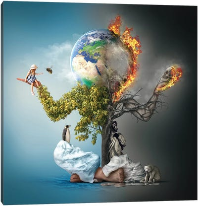 Mother Earth Canvas Art Print