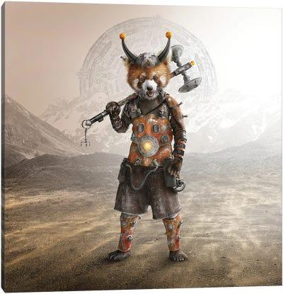 Red Panda Warrior Canvas Art Print