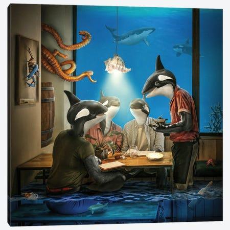 Whale Pub Canvas Print #SPS38} by spielsinn design Canvas Art