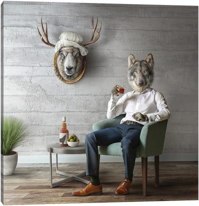 Home Fairytale: Big Bad Wolf Canvas Art Print