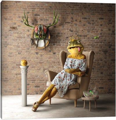 Home Fairytale: Frog Queen Canvas Art Print