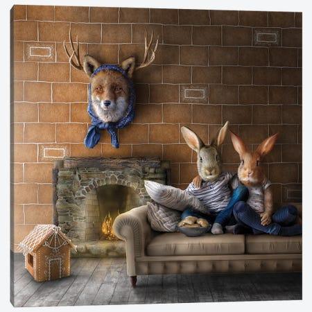 Home Fairytale: Hansel And Gretel Canvas Print #SPS42} by spielsinn design Art Print