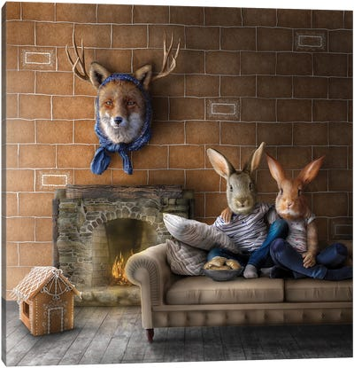 Home Fairytale: Hansel And Gretel Canvas Art Print