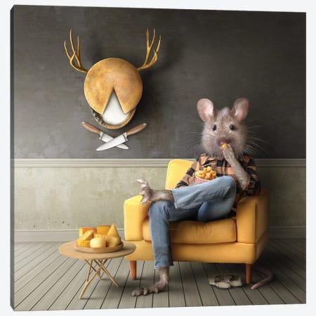 Home Fairytale: The Mouse Canvas Print #SPS44} by spielsinn design Canvas Wall Art
