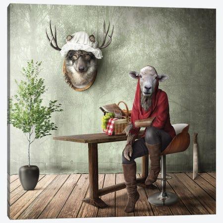 Home Fairytale: Little Red Riding Hood Canvas Print #SPS45} by spielsinn design Canvas Artwork