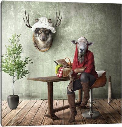 Home Fairytale: Little Red Riding Hood Canvas Art Print