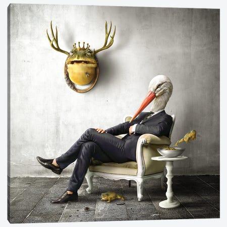Home Fairytale: The Stork Canvas Print #SPS46} by spielsinn design Canvas Art