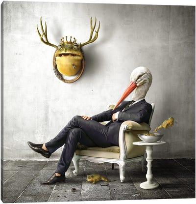 Home Fairytale: The Stork Canvas Art Print