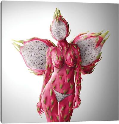 Dragon Fruit Queen Canvas Art Print