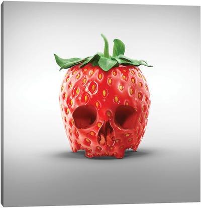 Strawberry Skull Canvas Art Print