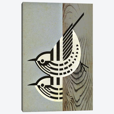 Black And White Warblers Canvas Print #SPT21} by Scott Partridge Canvas Art