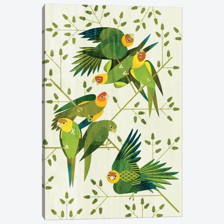 Carolina Parakeets Canvas Print #SPT27} by Scott Partridge Art Print