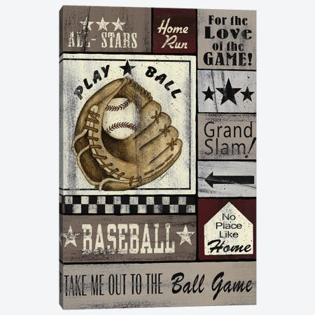 Baseball All Stars Canvas Print #SPV11} by Linda Spivey Canvas Art Print