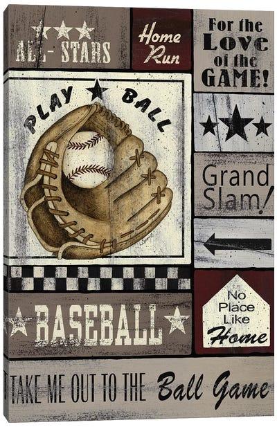 Baseball All Stars Canvas Art Print