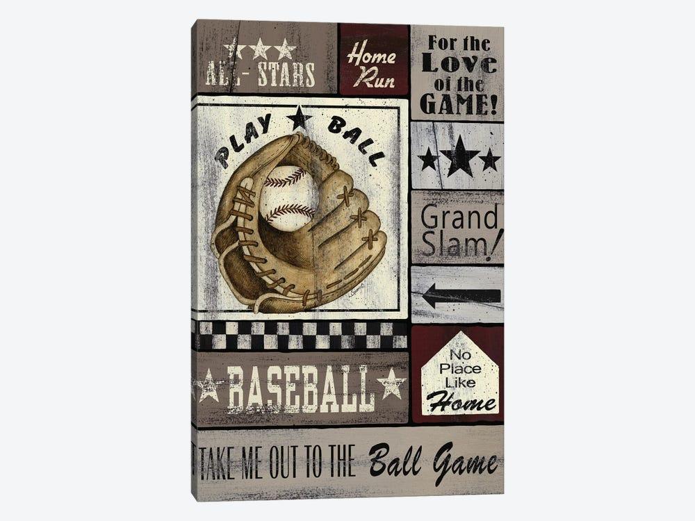 Baseball All Stars by Linda Spivey 1-piece Canvas Art Print