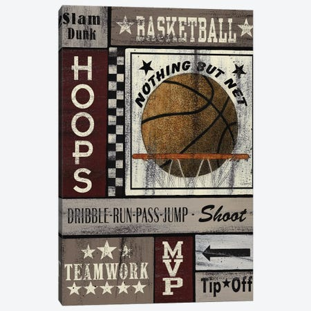 Basketball Hoops 3-Piece Canvas #SPV13} by Linda Spivey Canvas Art Print
