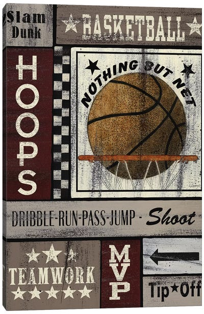 Basketball Hoops Canvas Art Print