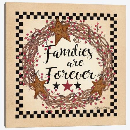 Family Wreath Canvas Print #SPV16} by Linda Spivey Canvas Wall Art