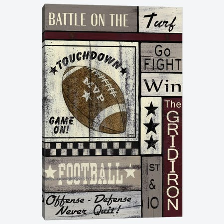 Football Game On Canvas Print #SPV18} by Linda Spivey Art Print