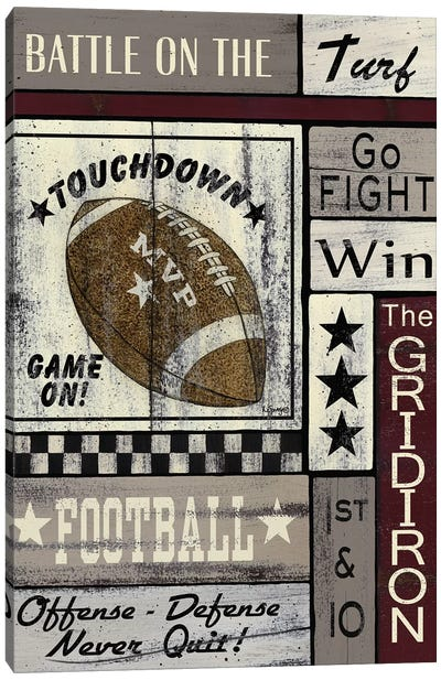Football Game On Canvas Art Print