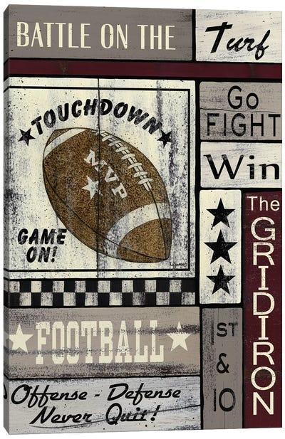 Football Game On Canvas Art Print