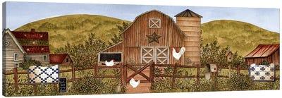 Summertime Farm Canvas Art Print