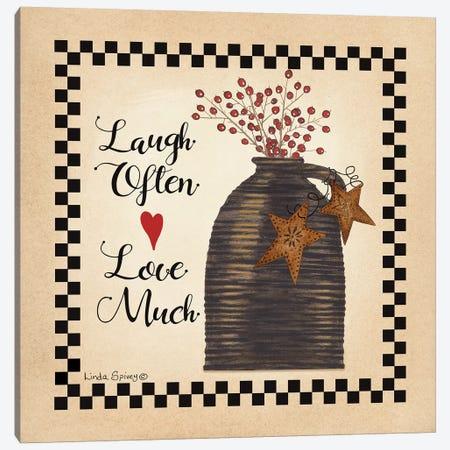 Laugh Often Canvas Print #SPV20} by Linda Spivey Canvas Wall Art